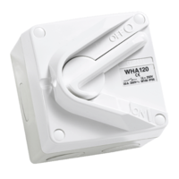 WHA120 Surface Switch, 1 Gang, 1 Pole, 250VAC, 20A, Hoseproof, M80 Rating